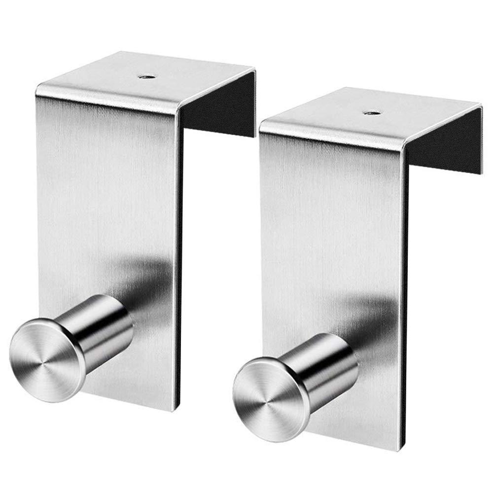 Over The Door Hooks 2Pack No Drill Towel Rack for Bathroom Storage Closet Behind The Door Organizer Clothes Rack