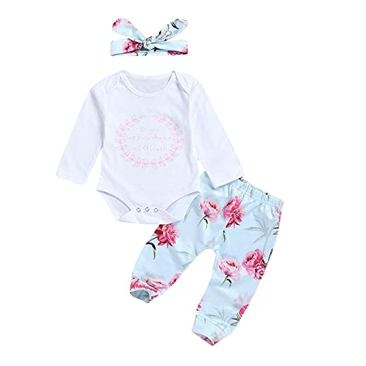 cd6b964a7a Amazon.com  Sagton Outfits for Newborn Baby Girls