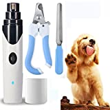 1k Pet Nail Grinder for Dogs Dog Nail Grinder Clipper for Small Medium Large Dogs Cats and Other Animal Paws Pet Nail Grooming Tool Electric Pet Nail Trimmer Safe - Ultra Quiet& Painless(New Version).
