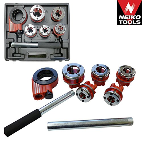 Ratcheting Pipe Threader Tool 9PC Set Pipe Threader ()