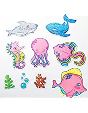ChezMax Non-Slip Bathtub Stickers Anti-Slip Cartoons Showers Treads for Kid and Adults Adhesive Safety Waterproof Tub Appliques for Bath Tub Bathroom Stairs Pools Home Decor