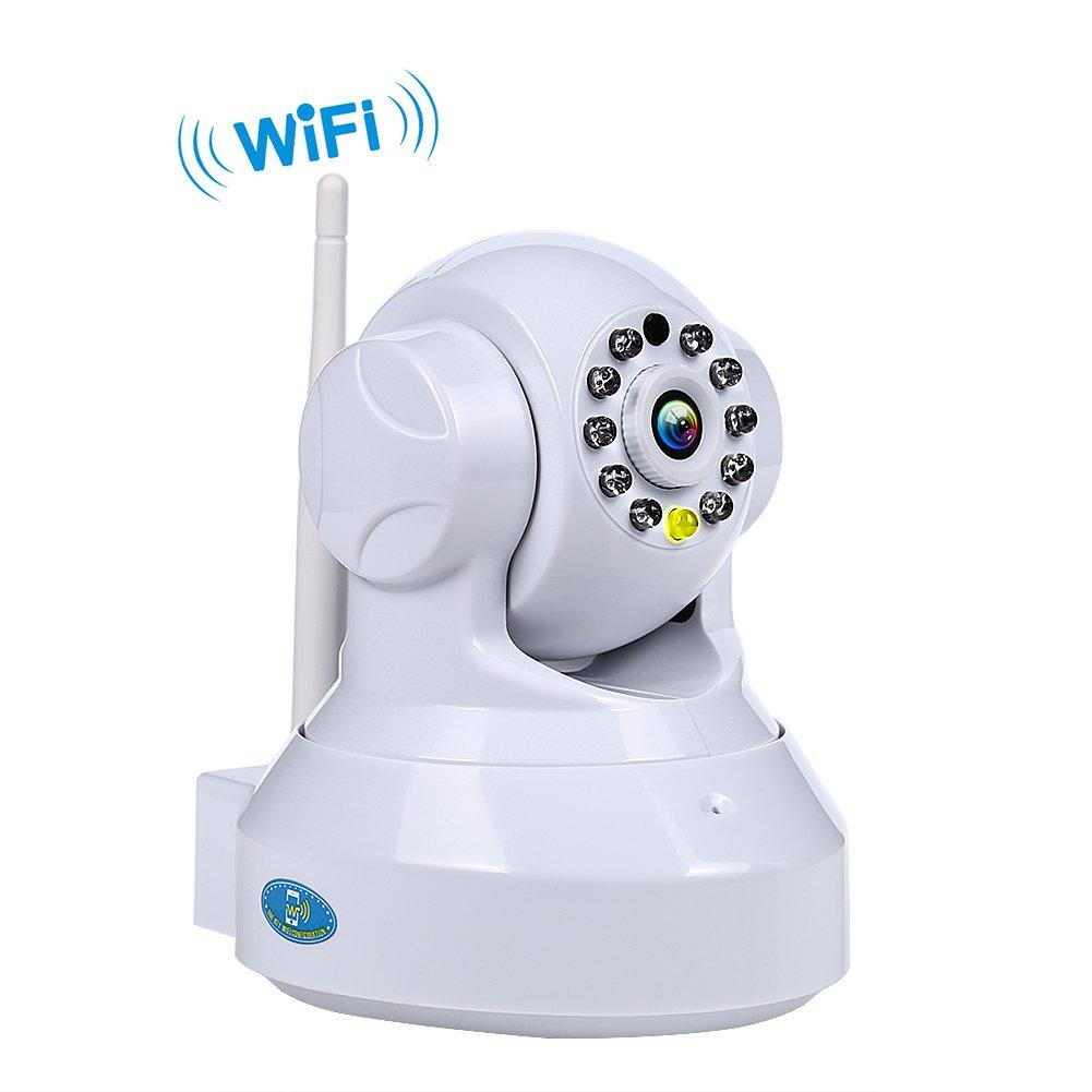 NEXGADGET Cá mara IP WiFi de Vigilancia Seguridad Interior Detecció n de Movimiento Visió n Nocturna P2P Pan Tilt Compatible con iOS y Android