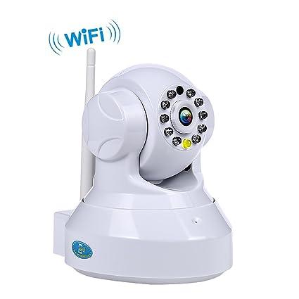 NEXGADGET Cámara IP WiFi de Vigilancia Seguridad Interior Detección de Movimiento Visión Nocturna P2P Pan Tilt