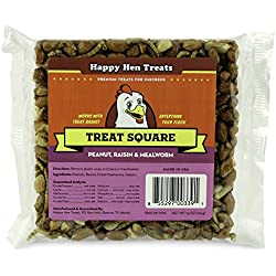 "Happy Hen Treats 7.5 oz. Square-Mealworm and Peanut, 4.25"" by 4.25"" by 1.25"""