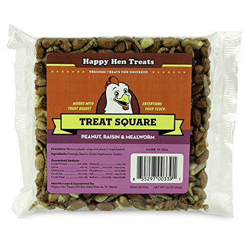 "5156xf8F9WL - Happy Hen Treats 7.5 oz. Square-Mealworm and Peanut, 4.25"" by 4.25"" by 1.25"""