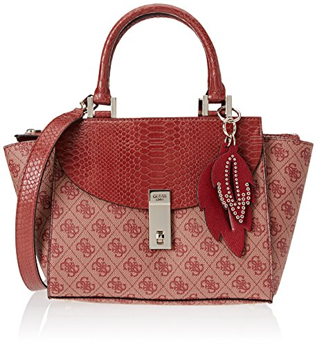x de Bordeaux Bolsos 10 H 5x18x24 W Mujer Rosso mano L cm GUESS Hwsp6786050 EP1q66