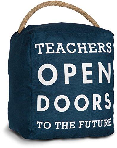 Future Gifts - Pavilion Gift Company Open Door Decor - Teachers Open Doors to The Future Navy Door Stopper Gift