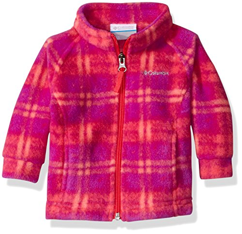 Columbia Baby Girls' Benton Springs II Fleece, Punch Pink Plaid, 6-12 Months