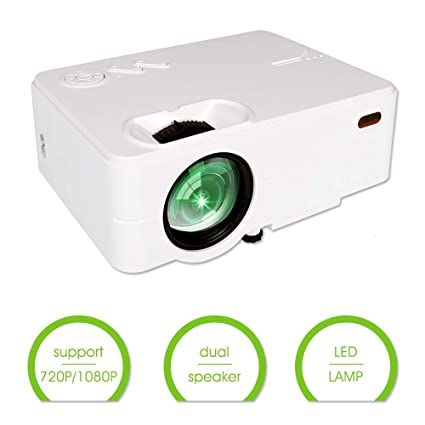 Mini Projector, Hd Projector 1080P, Home Movie Projector, Phone Projector, Suitable for Pc/MacBook/Xbox/Smartphone, 2800 Lumen,Home ...