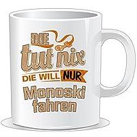 getshirts - RAHMENLOS® Geschenke - Tasse - Die tut nix - Die will nur Monoski...