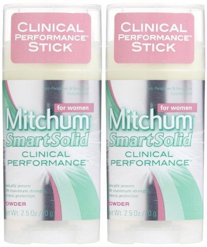 - Mitchum Women Smart Solid Clinical Performance Antiperspirant & Deodorant, Powder - 2.5 oz - 2 pk
