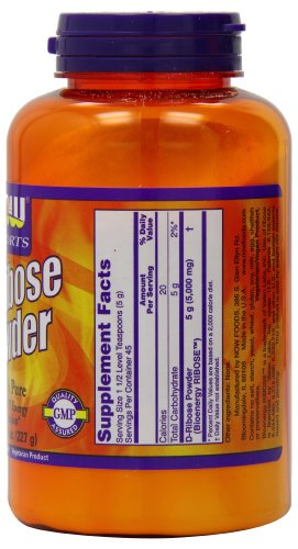 Now Foods D-Ribose Powder, 8-Ounce
