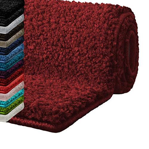 Casa Pura Bath Mats For Bathroom 17 X 24 Red Bathroom Rug Ultra Absorbent Self Dry Microfiber Non Slip Bath Mats For Floors Bath Rugs In 10 Fresh Colors Buy Online