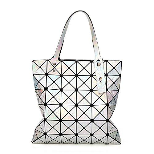 6 Beige 6 Sac Main à à Pliable Sac Diamant Main Géométrique à Bandoulière WLFHM Couture à Sac Sac Main 1xqYBwXcU