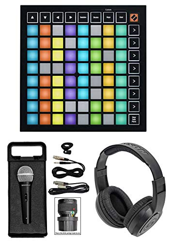 Novation Launchpad Mini MK3 MKIII MIDI USB Pad Controller+Mic+Headphones