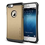Verus THOR Heavy Duty Drop Protection Case with Slim Fit Tough Dual Layer Hard Mesh Dot Design Cover for (Apple iPhone 6 4.7' 2014, Champagne Gold)