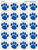 Blue Paw Prints Stickers 120 Stks