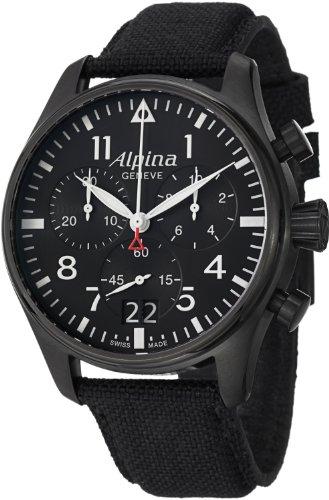 Alpina Startimer Pilot Men's Big Date Chronograph Watch AL-372B4FBS6 (Chronograph Pvd Swiss)
