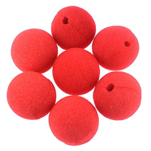 Wowlife Red Foam Clown Nose for Halloween Christmas Carnival Costume Party, Pack of 10pcs (Circus Magician Costume)