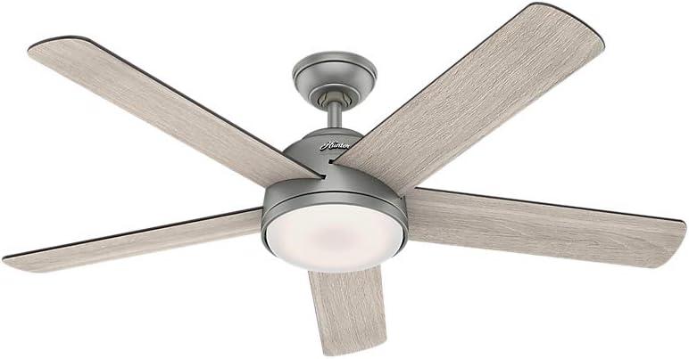 "Hunter Romulus Low Profile 54"" Indoor Smart Ceiling Fan"