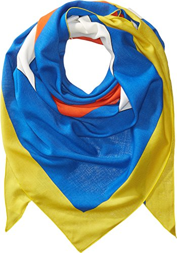 Fendi Kids Unisex Jewel Eyes Scarf Blue/Multi One (Fendi Wool)