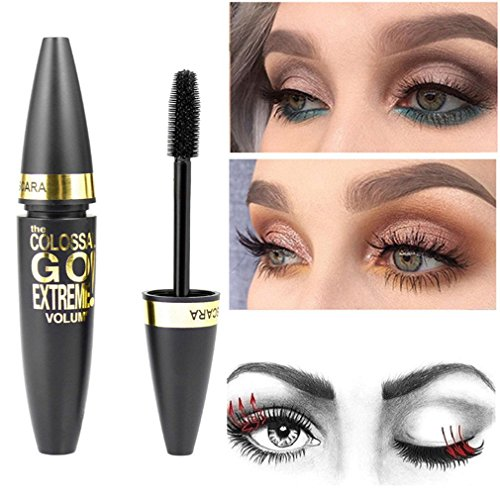 1PC Black Mascara Makeup Eyelash Waterproof Extension Curling Eye Lashes Cosmetic Thick Quick Dry Mascara Rimel Para Cilios Black