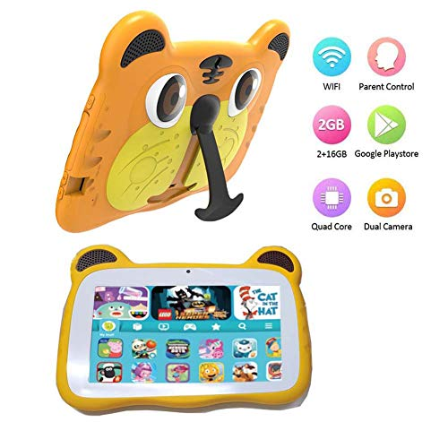 Tablet for Kids, Android 9.0 Kids Tablet 2GB +16 GB Learning Tablet with 7 inch IPS Eye Protection Screen Dual Cameras…