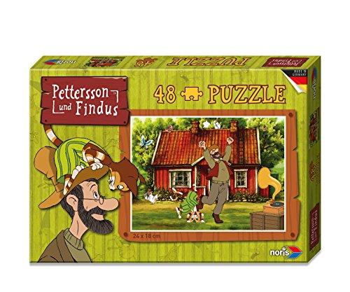 Noris 606031343 Pettersson Findus Fahrrad Puzzle 48 Teilig