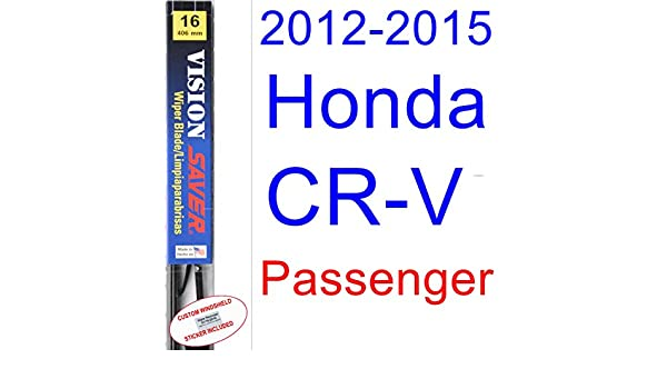 2012 - 2015 Honda CR-V hoja de limpiaparabrisas de repuesto Set/Kit (Saver Automotive products-vision Saver) (2013,2014): Amazon.es: Coche y moto