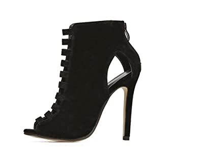 38a8965d6dd9 High Heels Gladiator Spiked Sandals Boots Strapless Party Shoes Women Peep  Toe Pumps Women Shoes(