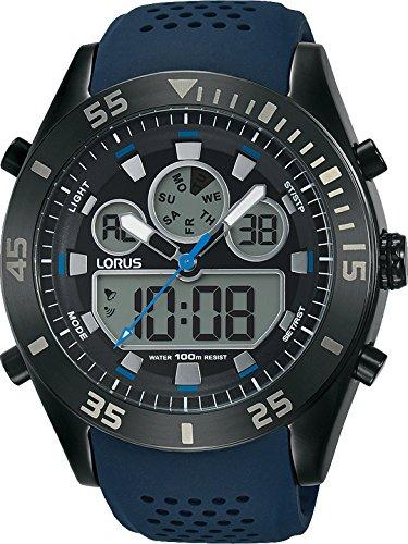 Lorus Reloj Digital para Hombre de Cuarzo con Correa en Silicona R2337LX9