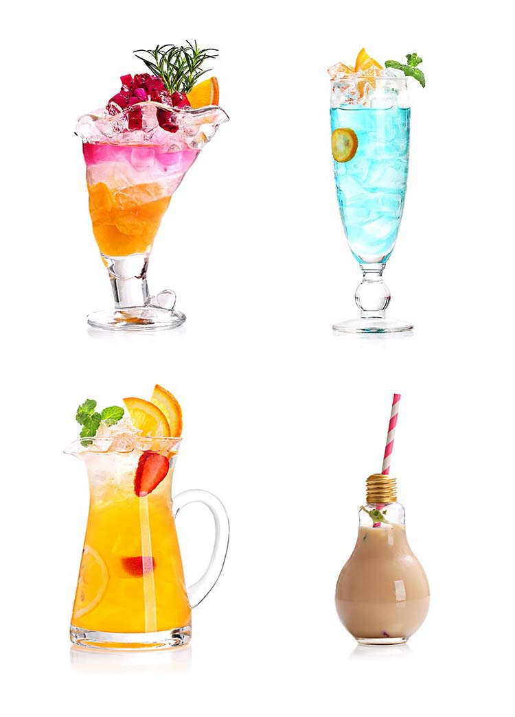 Transparent Glass Milk Tea Creative Juice Home Personality Drink Milkshake Cold Drink Sand Ice Cup Portable Outdoor Cola Bottle Drink Cocktail Beer Mug