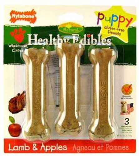 Nylabone Healthy Edibles Puppy Lamb & Apple Blister Card Regular 3ct