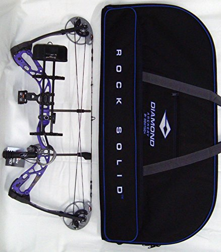 Diamond Edge SB-1 Compound Bow, Purple Blaze, RAK Package, L