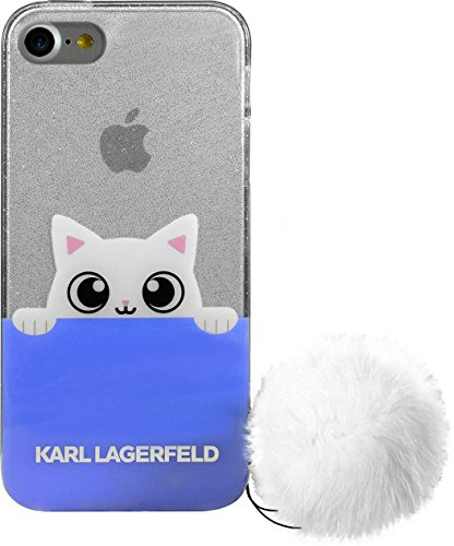Karl Lagerfeld K-Peek A Boo POM POM Coque pour Apple iPhone 7