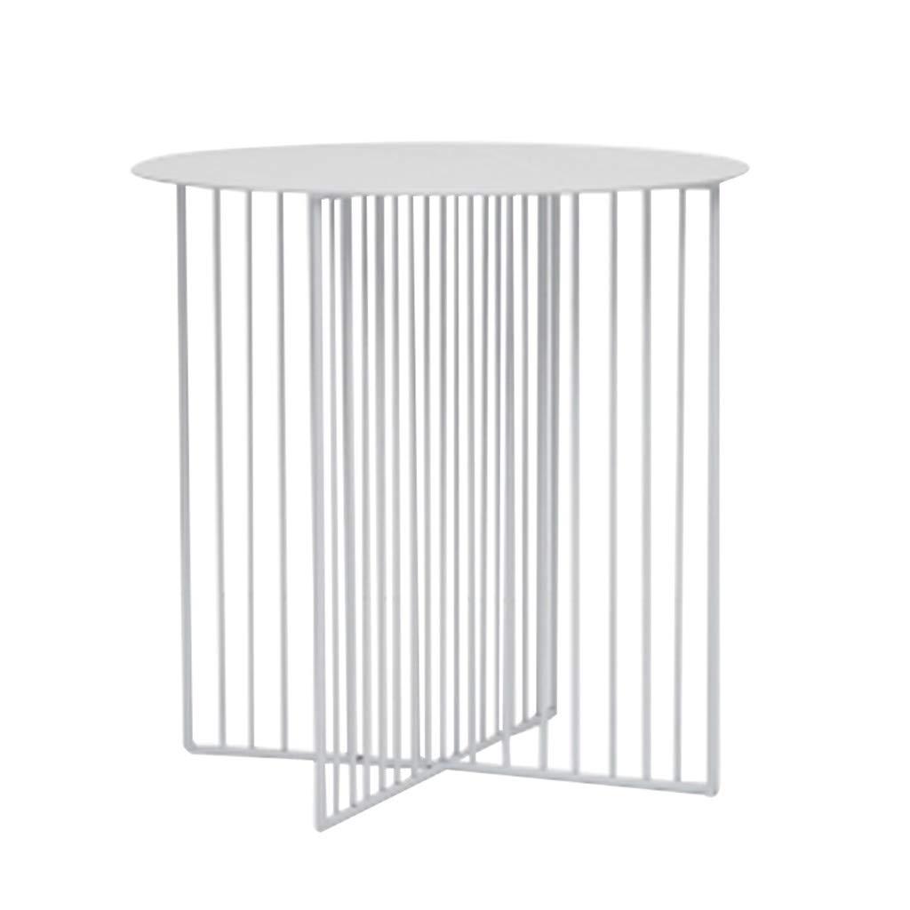 End Tables Tavolini da divano- Tavolino rotondo in ferro battuto in stile nordico, soggiorno Tavolo da tè creativo Tavolo basso moderno minimalista (Colore : NERO, dimensioni : 45 * 45cm) Global Shopping Mall