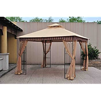 Amazing Sunjoy 10u0027x 10u0027 Lansing Soft Top Gazebo With Netting