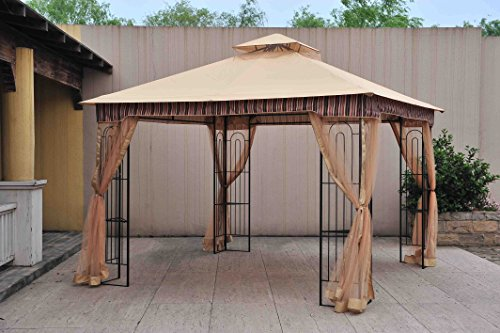 Sunjoy 10'x 10' Lansing Soft Top Gazebo with Netting by sunjoy