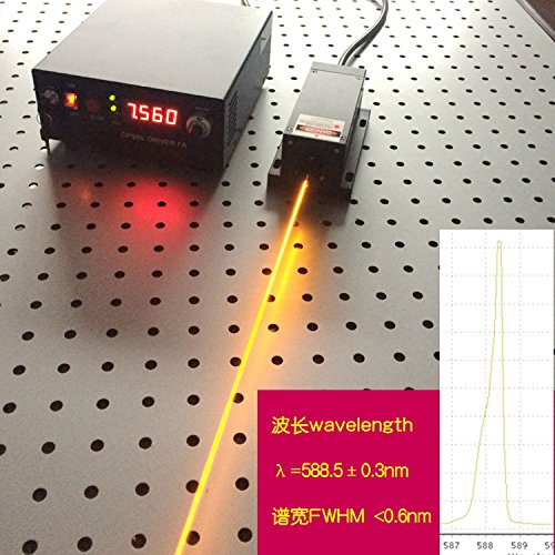 Yellow Laser Diode - Industry/Lab High Power 589nm 100mW Yellow Laser Dot Module + Analog 0-30KHZ + TEC Cooling 85-265V + Lab Adjustable Digital Power Supply LSR-PS-II