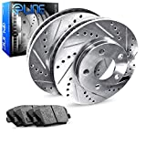 1989-1994 Suzuki Swift Rear eLine Drilled Slotted Brake Rotors & Ceramic Pads