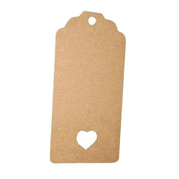 bd3c9395bb03 Amazon.com: Kanggest 100Pcs Kraft Paper Gift Tags Rectangular with ...