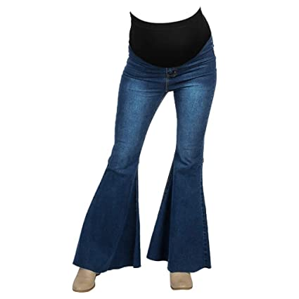 c090e567ae382 Amazon.com: Maternity Jeans for Women High Waist Flare Leg Pants Bootcut  Lounge Jeans for Casual Wearing: Musical Instruments