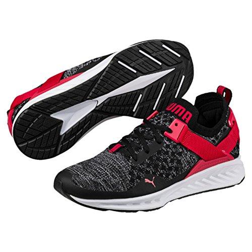 PUMA Men Ignite Evoknit Lo, Black- White-Toreador, Running Shoes Black (Puma Black-Puma White-Toreador)