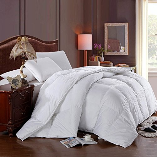 Form Filling (Extravagance in the form of style and comfort with this California king Checkard White Duck Down Comforter; Lushous Duck down filling encased by silky smooth 100% cotton w/300tc weave)