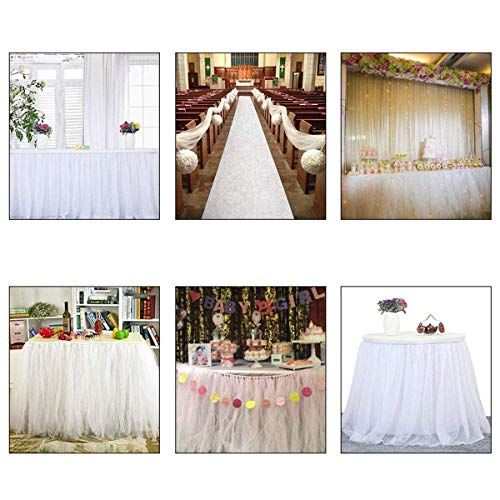 100 Yards Tulle Wedding Backdrop Wedding Decoration 15cm: ASIBT 6 Inch X 100 Yards Tulle Roll Spool Fabric Table