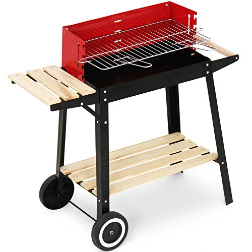 Broilmaster Grill, BBQ Grillwagen mit Feuerbox, schwarz / rot, 83 x 77,5 x 39,5 cm, BBQS10