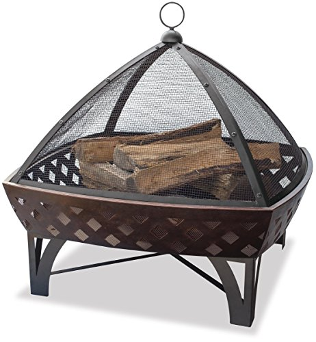 Endless Summer, WAD1401SP, Outdoor Fire Bowl with Lattice, Oil Rubbed Bronze (Uniflame Outdoor Fire Bowl)