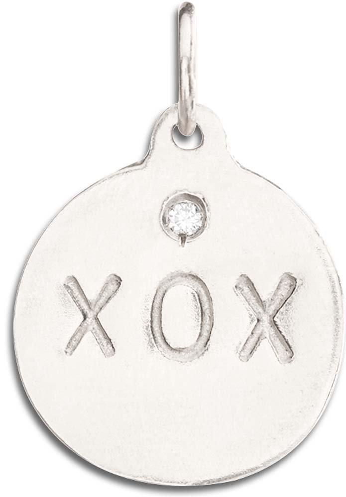 Helen Ficalora ''XOX'' Disk Charm With Diamond White Gold