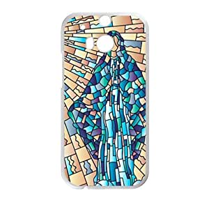 Stained Glass StylishHigh Quality Comstom Plastic case cover For HTC M8