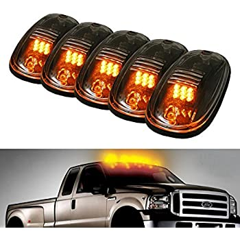 5pcs Black Smoked Lens Amber LED Cab Roof Marker Lights, KOMAS Roof Top  Lamp Clearance